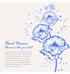 hand drawn flowers doodle vector image