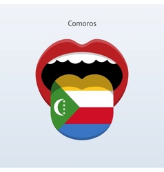 Comoros language abstract human tongue vector