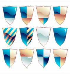 Medieval shield set vector