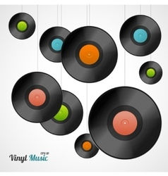 Vinyl record card vector