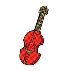 Comic cartoon violin vector