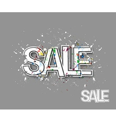 Sale text made trendy design vector