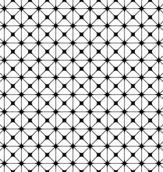 Seamless monochrome grid pattern design vector