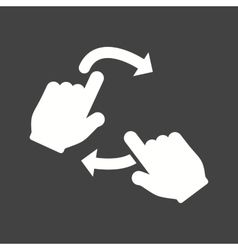 Rotate with two hands vector