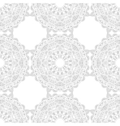 Black and white snowflake for coloring book vector