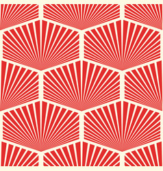 abstract seamless geometric red pattern vector image vector image