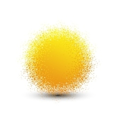 Abstract yellow fluffy isolated sphere with shadow vector image