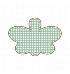 Butterfly fabric handcraft cute baby style vector
