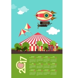 Calendar 2017 Carnival vector image