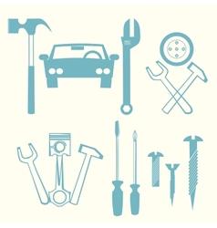 car repair icons vector image