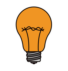 color sketch silhouette light bulb icon vector image vector image