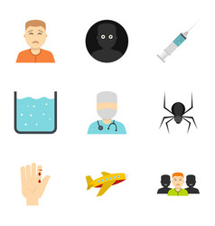 Fear icon set flat style vector