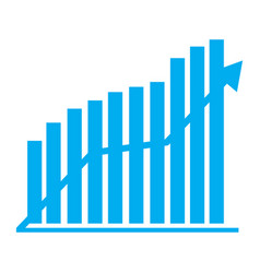 financial chart vector image
