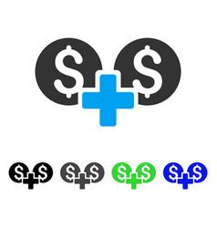 Financial sum flat icon vector