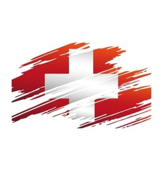 Flag Of Switzerlandin the form traces brush vector image vector image