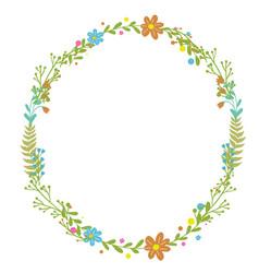 flowers set beautiful wreath elegant vector image vector image