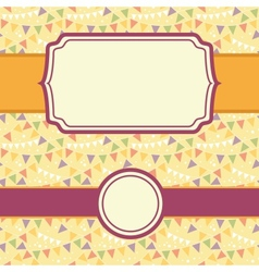 Frames On Party Bunting Seamless Pattern vector image vector image