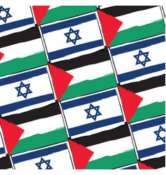 Israel and palestine flags or banner vector