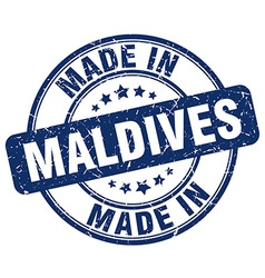 made in Maldives vector image vector image
