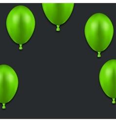 modern green balloons on black vector image