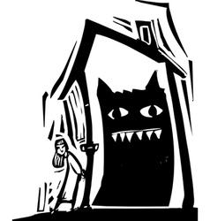 Monster house vector