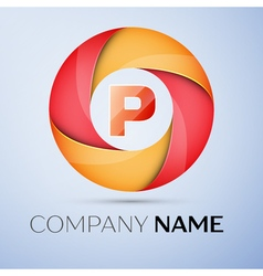 P letter colorful logo in the circle template for vector
