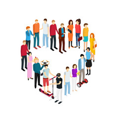people set man and woman isometric view vector image