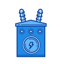 power industry line icon vector image