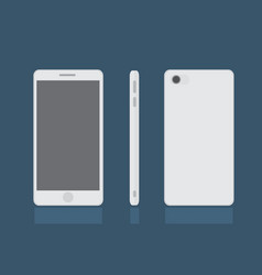 realistic modern smart phone set mock up vector image vector image