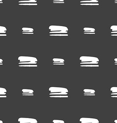 Stapler and pen icon sign Seamless pattern on a vector image