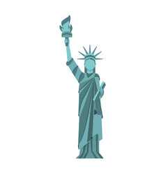 statue of liberty cartoon vector image