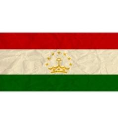 Tajikistan paper flag vector image vector image