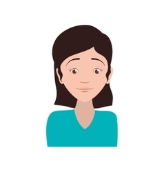 Woman female avatar person people icon vector