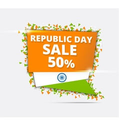 Indian independence day sale tricolor banner vector