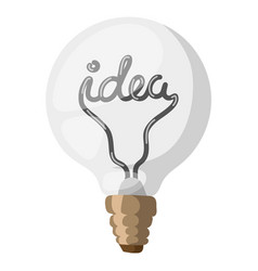 Idea lamp concept isolated vector