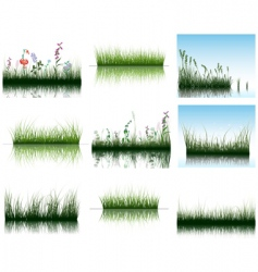 Grass on water vector