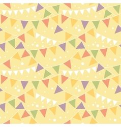 Party decorations bunting seamless pattern vector