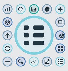 Set of simple statistic icons vector