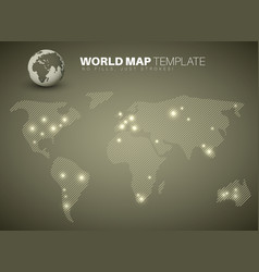 world map template for your infographics reports vector image