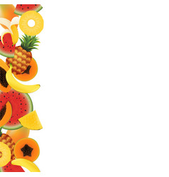 Tropical fruit background vector