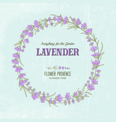 The lavender elegant wreath vector