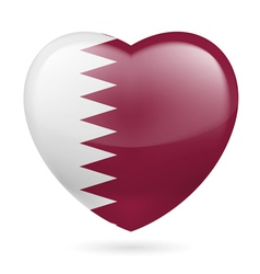 Heart icon of qatar vector