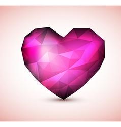 Purple Diamond jewel heart vector image