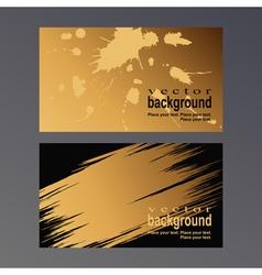 Gold vcard vector