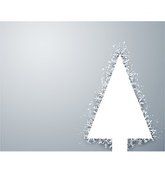 Christmas light snow fir tree vector