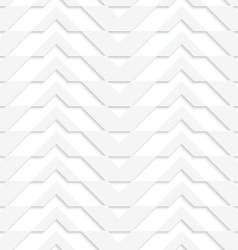 White 3d horizontally striped chevron vector