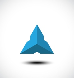 Triangle abstract icon vector