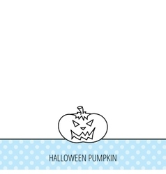 Halloween pumpkin icon scary smile sign vector
