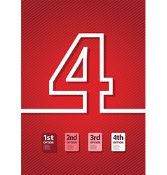 red number vector image