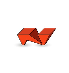 Logo n letter graffiti cool youth style 3d vector